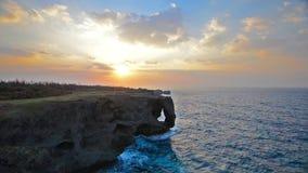 Manzamo Cliff in Okinawa Royalty Free Stock Photos