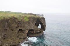 Manzamou klippa, landskap, Okinawa, Japan royaltyfri foto