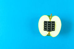 Manzana alfanumérica Imagen de archivo libre de regalías