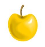 Manzana amarilla grande Imagenes de archivo
