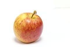 Manzana amarilla roja en blanco Foto de archivo