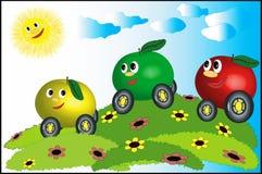 Manzana-coches Foto de archivo libre de regalías