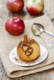 Manzana cocida Foto de archivo libre de regalías