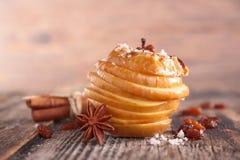 Manzana cocida con la especia Fotografía de archivo libre de regalías