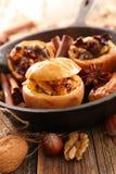 Manzana cocida con las especias Foto de archivo libre de regalías