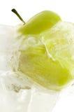 Manzana congelada Imagen de archivo libre de regalías