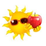 manzana de 3d Sun Fotografía de archivo libre de regalías