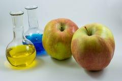 Manzana de la ciencia Imagen de archivo libre de regalías