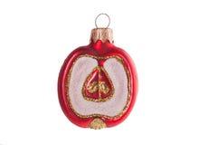Manzana de la decoración del Año Nuevo aislada en un fondo blanco Imagen de archivo