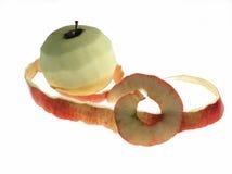Manzana de la peladura Imagen de archivo libre de regalías
