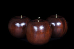 Manzana de madera Imagenes de archivo
