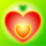 Manzana del corazón Imagen de archivo libre de regalías