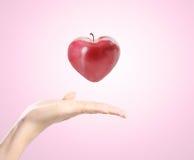 Manzana del corazón Fotografía de archivo libre de regalías