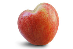 Manzana del corazón Fotografía de archivo