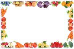 Manzana del espacio de la copia de la frontera del marco del copyspace de las frutas y verduras o stock de ilustración