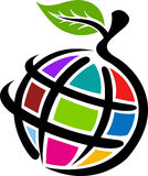 Manzana del globo Imagenes de archivo
