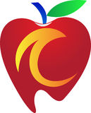 Manzana dental Imágenes de archivo libres de regalías