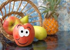 Manzana feliz Foto de archivo libre de regalías