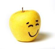 Manzana feliz de la sonrisa Imagenes de archivo