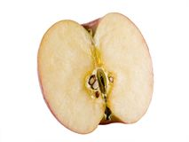 Manzana fresca de fuji media Fotos de archivo libres de regalías