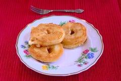 Manzana frita Imagenes de archivo