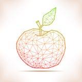 Manzana geométrica stock de ilustración