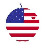 Manzana grande americana con el corazón Fotografía de archivo libre de regalías