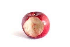 Manzana mordida roja Fotografía de archivo