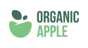 Manzana orgánica, fruta, etiqueta, muestra, icono, logotipo, símbolo imágenes de archivo libres de regalías