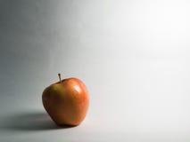 Manzana real de la gala con su sombra en la izquierda, entre el contraste ligero blanco y negro Fotografía de archivo libre de regalías