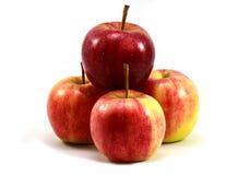 Manzana roja aislada en el fondo blanco Fotos de archivo libres de regalías