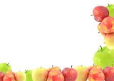 Manzana roja aislada en el recorte blanco del fondo Fotos de archivo libres de regalías