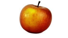 Manzana roja con el lado amarillo fotos de archivo libres de regalías