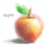 Manzana roja con vector polivinílico bajo del ribete amarillo Foto de archivo