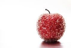 Manzana roja congelada Foto de archivo libre de regalías