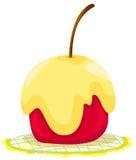 Manzana roja cubierta en caramelo Imagen de archivo libre de regalías