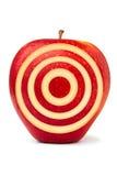 Manzana roja de la puntería imagenes de archivo