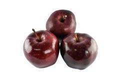 Manzana roja del grupo aislada en el fondo blanco Imagenes de archivo