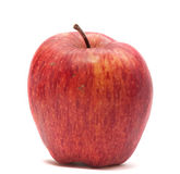 Manzana roja en blanco Imagen de archivo libre de regalías