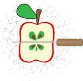 Manzana roja en el blanco Fotografía de archivo