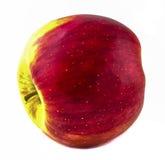 Manzana roja en el fondo blanco Fotos de archivo