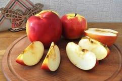 Manzana roja en el vector fotografía de archivo