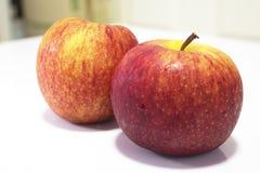 Manzana roja mojada aislada en blanco Imágenes de archivo libres de regalías