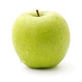 Manzana verde aislada en blanco Imagenes de archivo
