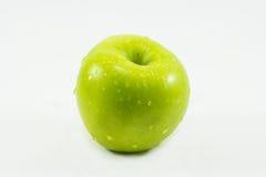 Manzana verde, aislada en el fondo blanco Imagen de archivo libre de regalías