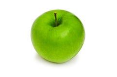 Manzana verde aislada en el fondo blanco Imágenes de archivo libres de regalías