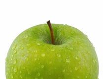 Manzana verde con el camino de recortes aislado en blanco Foto de archivo