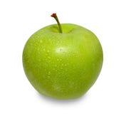 Manzana verde en el fondo blanco Foto de archivo
