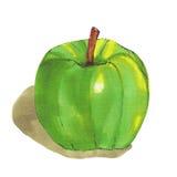 Manzana verde en el fondo blanco Imagenes de archivo