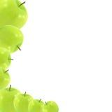 Manzana verde fresca aislada en blanco Imágenes de archivo libres de regalías
